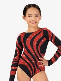 sequin swirl sublimated print long sleeve gymnastics leotard leotards perfect balance g711c dance