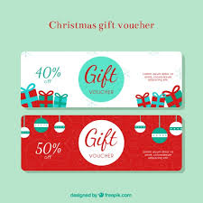 Christmas Gift Coupon Christmas Gift Discount Voucher Vector Free Download