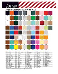 Angelus Paint Color Chart Painting Leather Paint Color