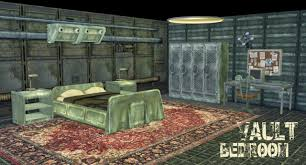 Sims Bedroom My Sims 4 Blog Fallout 3 Vault Bedroom Conversion By Brialimmortelle