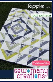 Ripple | Sewing projects, Patterns and Sewing ideas & Modern quilting Adamdwight.com