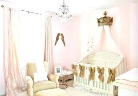 image of pink and gold nursery rug