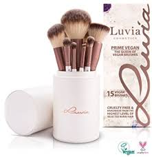 luvia cosmetics prime vegan brush set 15 pcs cosmetic brush set