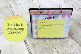 Birthday Anniversary Calendar Birthday Anniversary Calendar Find It Make It Love It