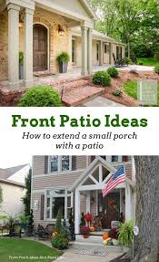 extend a porch with a patio