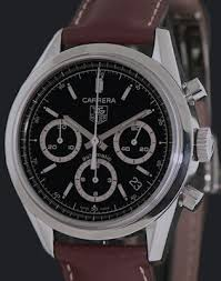 tag heuer carrera chronograph cv2113 0 pre owned mens watches