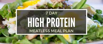 7 Day High Protein Diet Meal Plan Without Any Meat