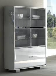 white display cabinet with pink lighting modern glass cabinet