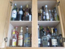 Alcohol Cabinet Liquor Cabinet How To Organize Your Kitchen Cabinets Popsugar