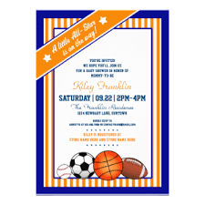 Sports Baby Shower Invitations U0026 Announcements  ZazzleBaby Shower Invitations Sports Theme