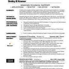 Analyst Support Resume