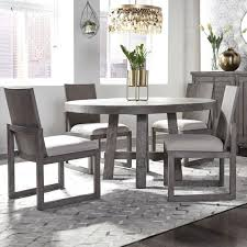 Freedom Furniture Modern Farmhouse 5 Piece Round Table And Chair Set