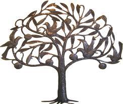 haitian steel drum metal art fruit tree with birds wall decor haitian art view images