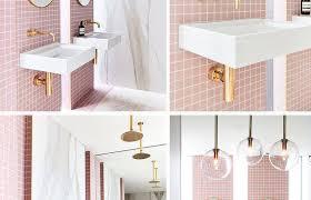 decorating bathrooms retro pink