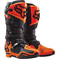 Fox Riding Boots Size Chart Fox Racing Instinct Boots Black Orange 9 12252 016 9