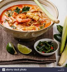 Tom Yam kung Spicy Thai seafood soup ...
