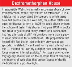 Dextromethorphan New Controversies