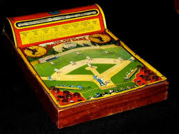 Wooden Baseball Game Toy c100 Great American Baseball Game tin lithography vintage toy 23