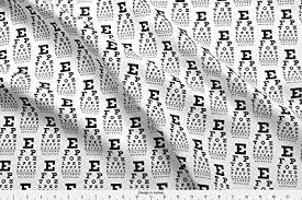 Spoonflower Vision Chart Fabric Vision Chart Glasses Optometry Optometrist Eye Eye Doctor Greyscale By Weavingmajor Printed On Basic Cotton Ultra