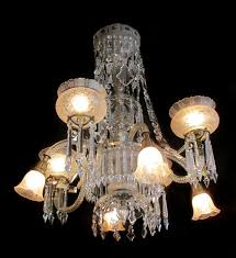 gas electric crystal chandelier
