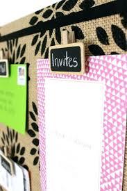 burlap bulletin board border love the idea of using re chalkboard clips like this for a bulletin board