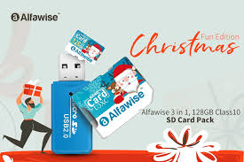 Buy <b>Alfawise</b> 3 in 1, 128GB Class10 SD Card Pack for Just $15.99