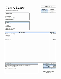 Service Invoice Template Excel Lovely Service Invoice 33