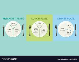 healthy food plate diagram. Delighful Food Healthy Eating Plate Diagram Vector Image Throughout Food Plate Diagram M