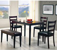 taraval 5 piece dining set with bench by coaster furniture sylvan furniture