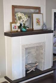 how to make a fake fireplace out of wood