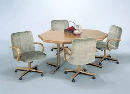 dining sets with rolling chairs dining sets with rolling chairs unbelievable kitchen casters table and interior design 0