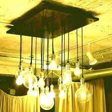 bulb chandelier dining room large size of beam edison chair covers set 4