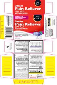 Jr Strength Acetaminophen Dosage Chart Junior Strength Pain Reliever Tablet Chewable Valu