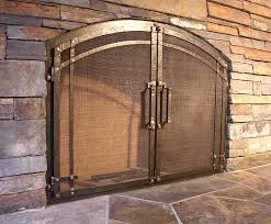 custom wrought iron fireplace door gallery for awesome custom fireplace doors