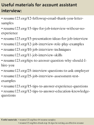 Top 8 account assistant resume samples