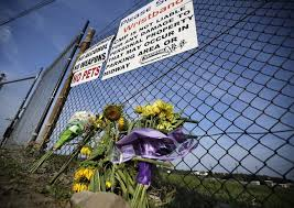 a small memorial of flowers is seen at canandaigua motorsports park on monday in canandaigua