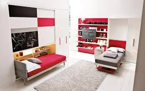 Bedroom:Great Murphy Bed Design With Slide Iron Frame Also Cream Bedroom  Painted Wall Cool