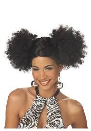 black disco puffs wig