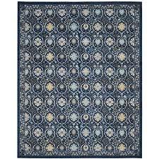 safavieh evoke baxter royal blue ivory indoor oriental area rug common 8 x