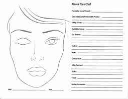 10 blank face chart templates male face charts and female face charts