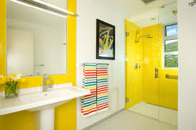 Yellow Bathroom Ideas For Bathroom Decorating Theme With Simply Black And White