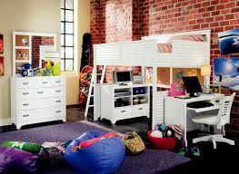 lea freetime full over full loft bed