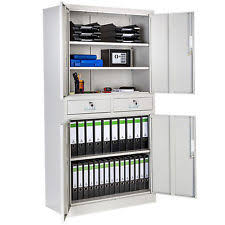 office metal cabinets. office storage cupboard metal 2 drawers filing cabinet furniture 180x90x40cm cabinets