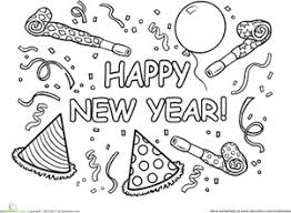 Small Picture 12 coloring pictures happy new year Print Color Craft