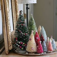 Bottle Brush Christmas Tree Decorations