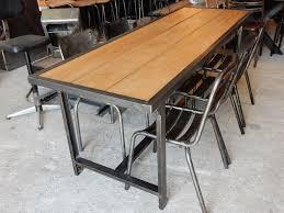 Table fer et bois salle manger table blanche et bois | Amoretti ...
