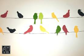 trending birds on a wire painting y4211601 beautiful birds wire wall decor composition painting ideas on a birds wire