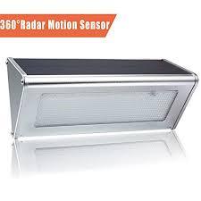 super brigh 48 led solar lights outdoor radar motion sensor light wireless waterproof stainless aluminum alloy housing lights security wall lighting for