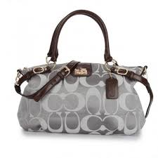Coach Madison Kelsey In Signature Medium Grey Satchels ATI