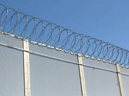 metal farm fence. Combined With Razor Wire, Expanded Metal Fence Small Mesh Size  Achieves High Level Security Farm